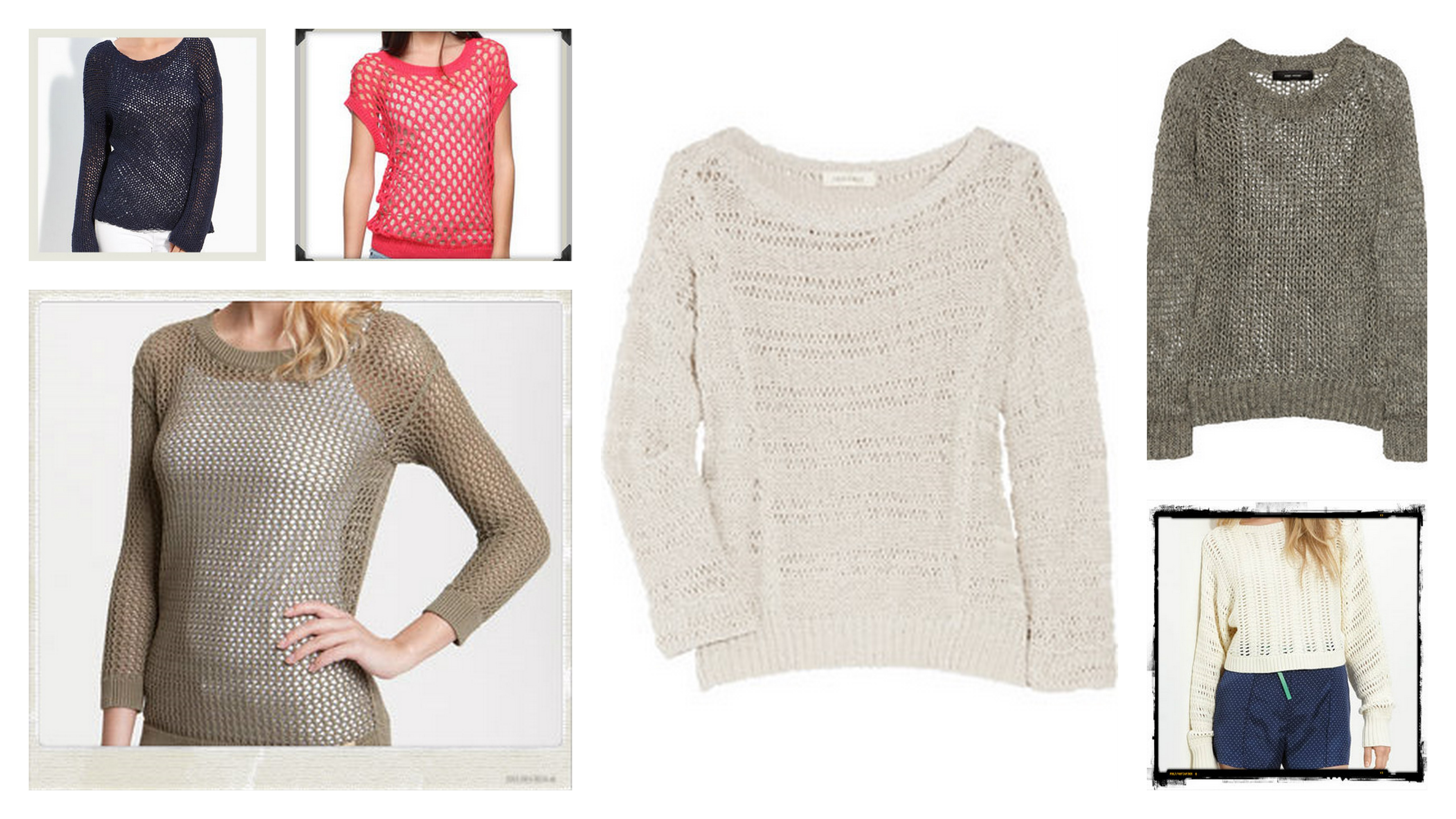What I Want for Spring; Mesh Sweaters ⋆ chic everywhere