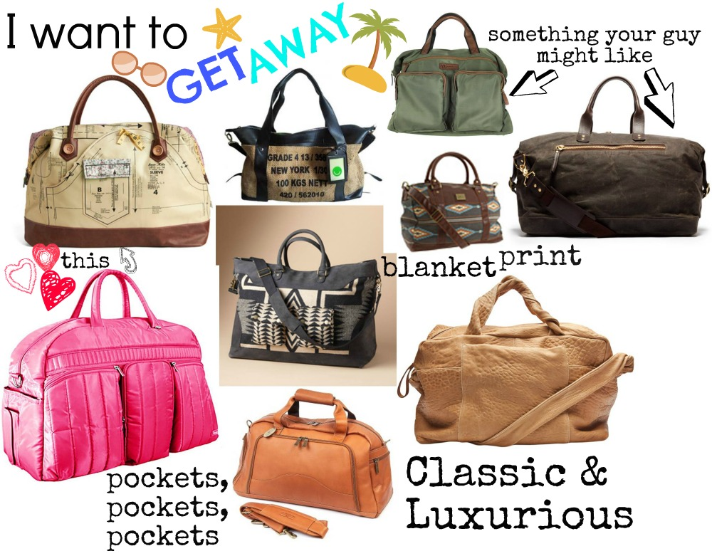 I want to get away; packing my weekender bag ⋆ chic everywhere