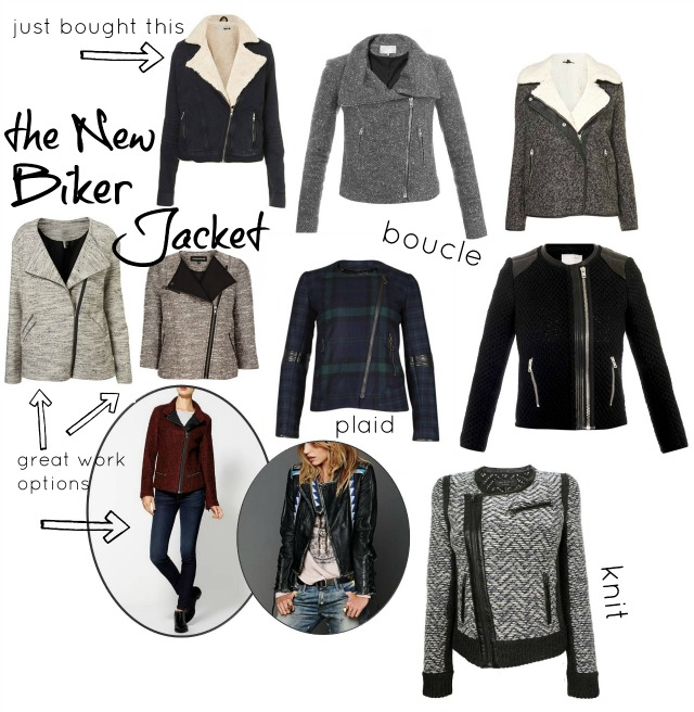 Click on the links to shop the jackets (zig zag from the top