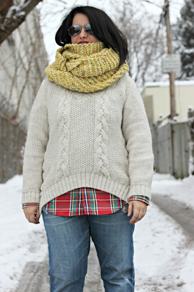 chunk knits chunky snood
