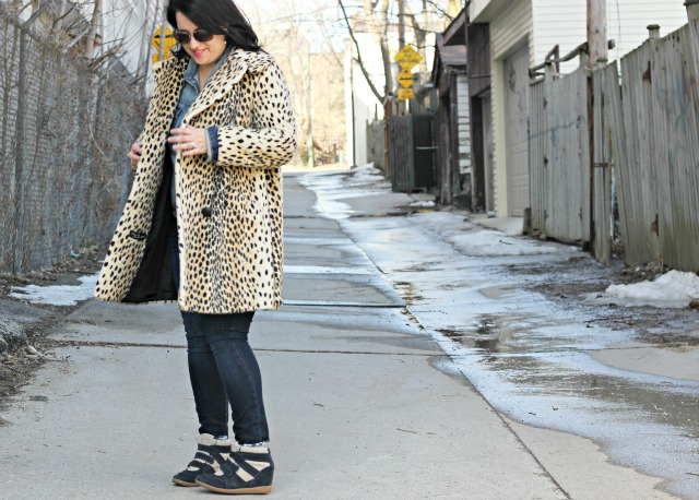 vintage cheetah coat