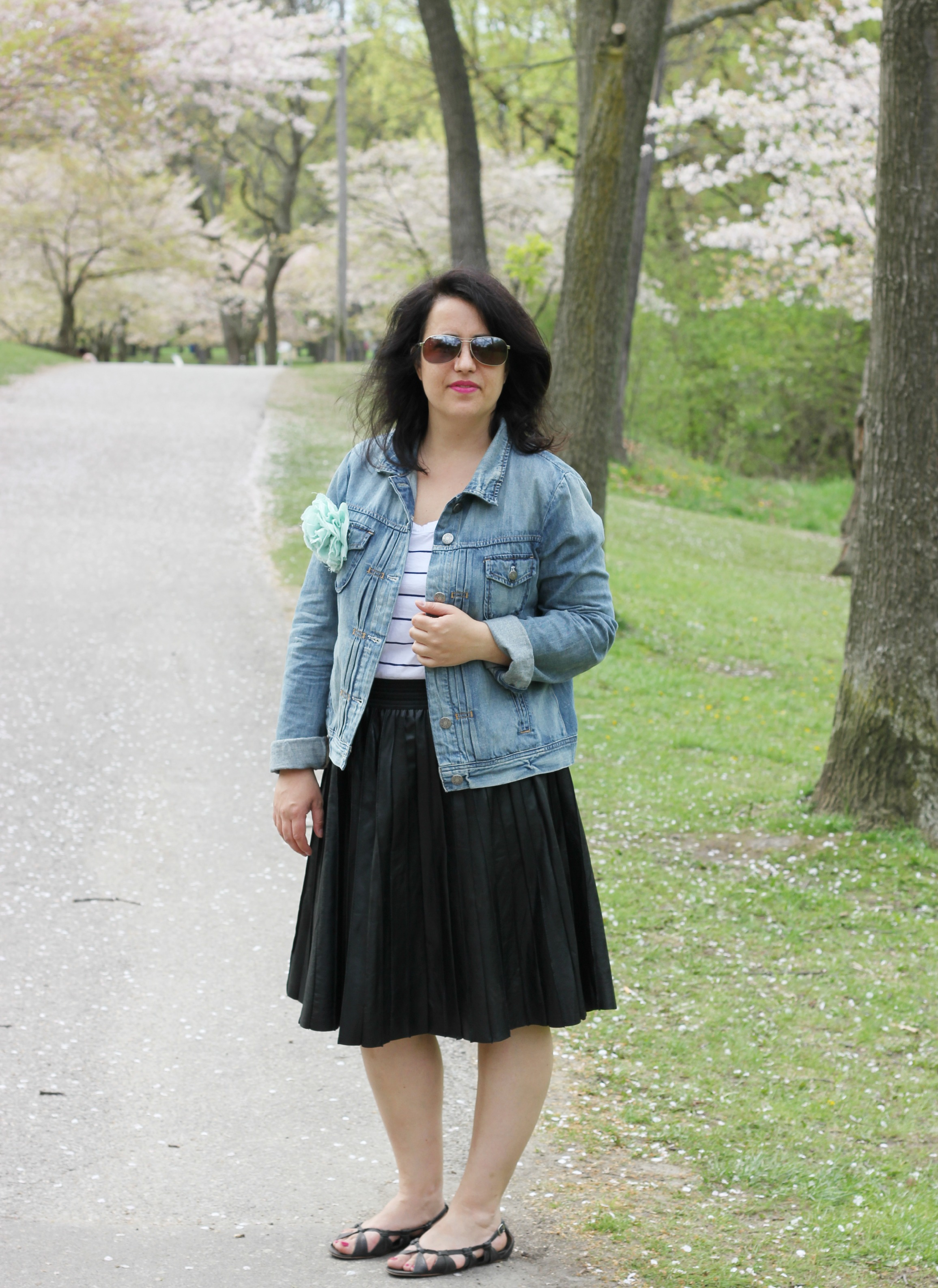 How I Wear; Leather Pleated Midi Skirt ⋆ chic everywherechic ...