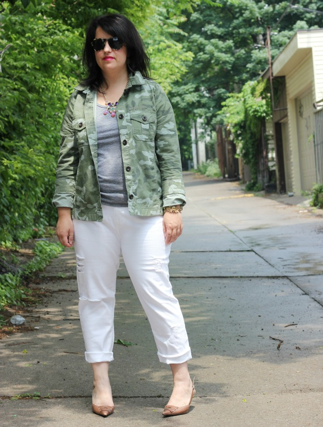 White Jeans Style Style Trashed White Jeans