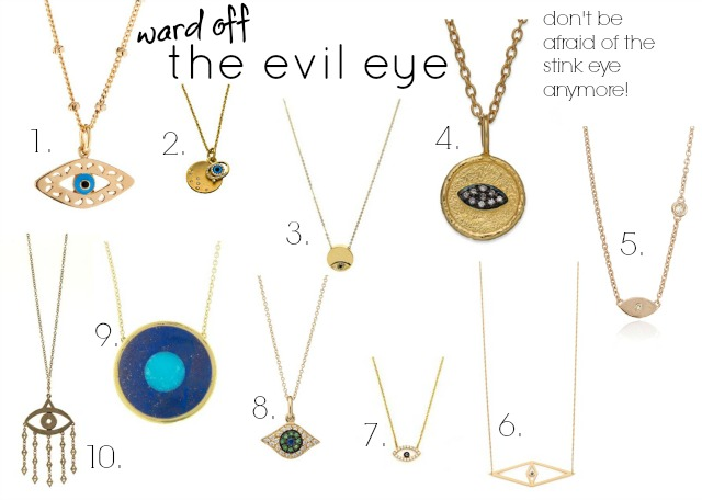 evil eye necklace, evil eye jewellery