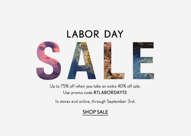 Expect Lots of Clothing Sales Since Labor Day falls at the end of the summer, you can expect to see major discounts on clothing as stores clear out their stockrooms ahead of the new season. Last year, about 45% of all Labor Day sales listed on our site were for clothing and accessories.