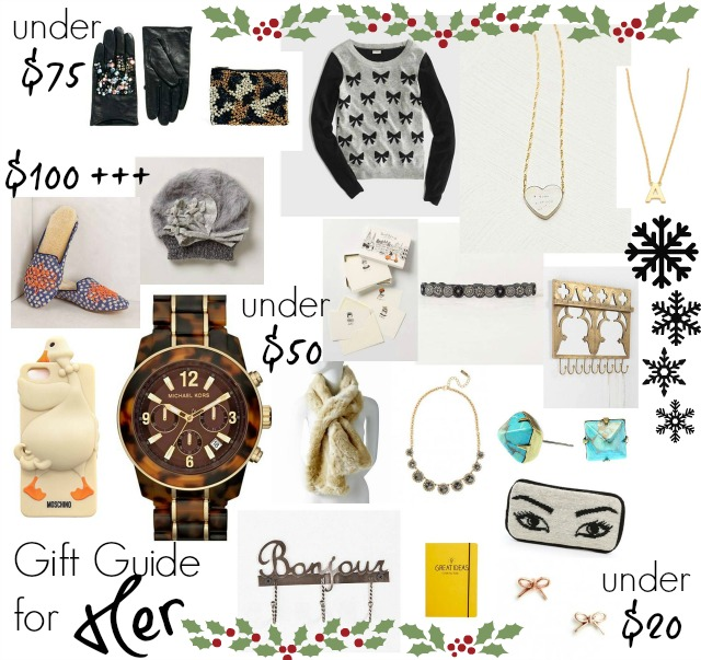 Christmas Gift Guide For Her Chic Everywhere