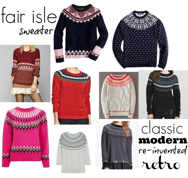 Fair Isle Sweaters Reinvented ⋆ chic everywhere
