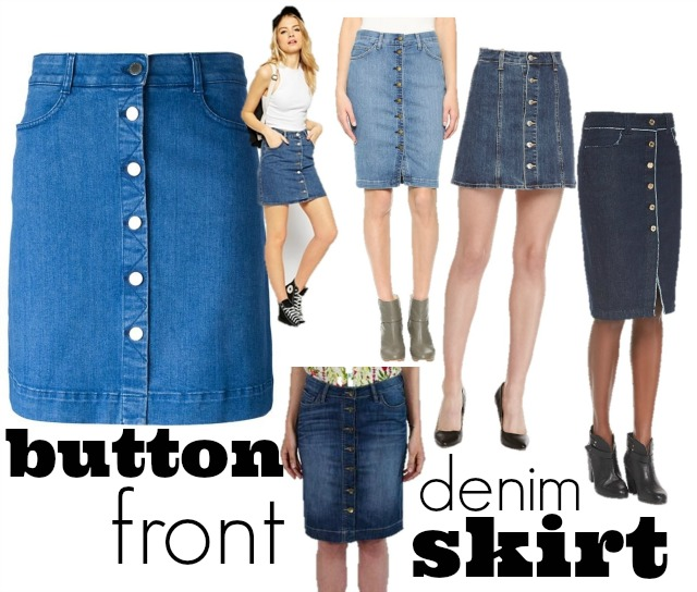 Button Front Denim Skirt ⋆ chic everywherechic everywhere