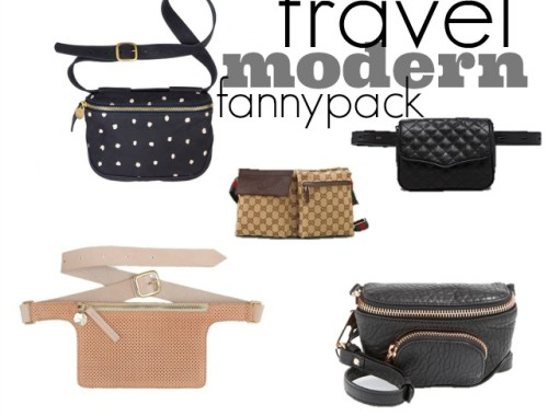 are fanny packs in style, what bag to use when travelling, modern fanny pack, belt bag