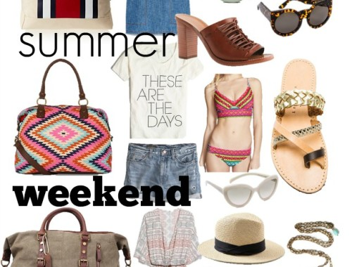 what to pack for a summer weekened trip, weekend trip packing list, cottage weekend packing list